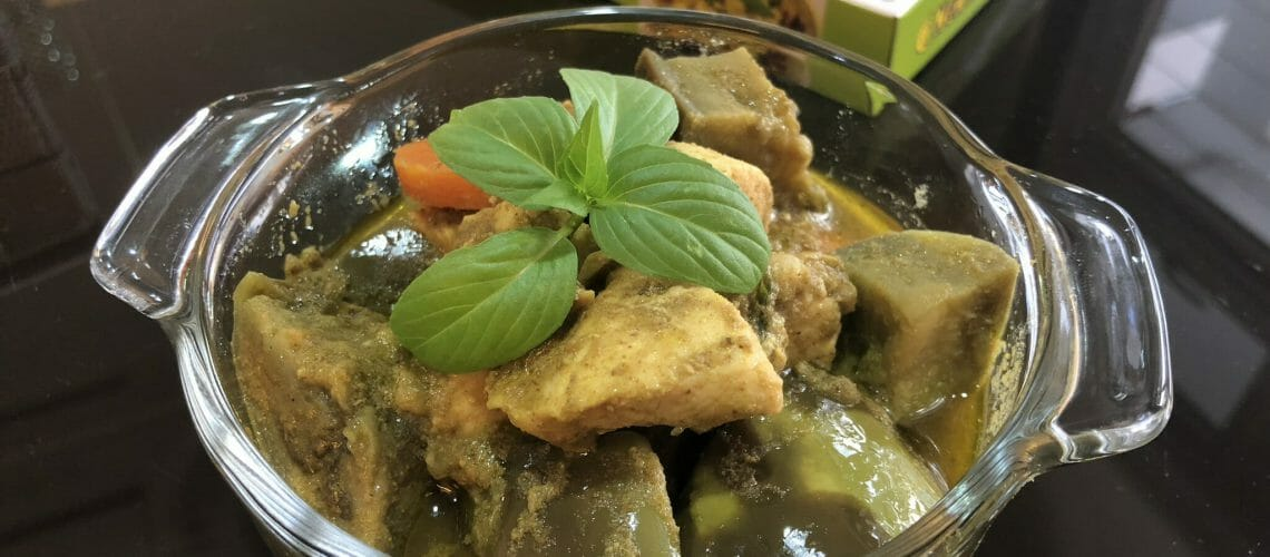Express Green Chicken Curry (简易青咖喱鸡块)