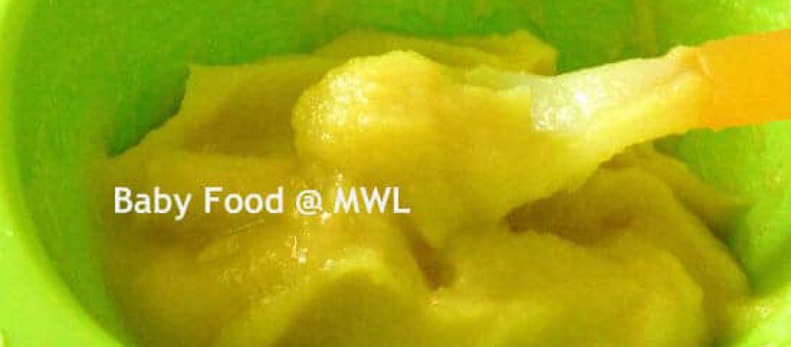 sweet potato puree with breast milk