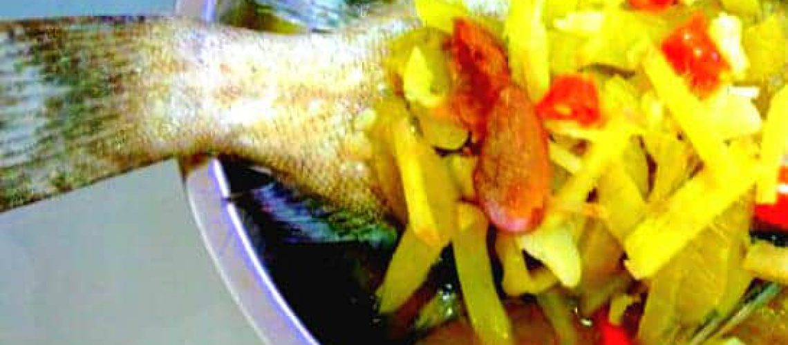 Steamed Seabass fish