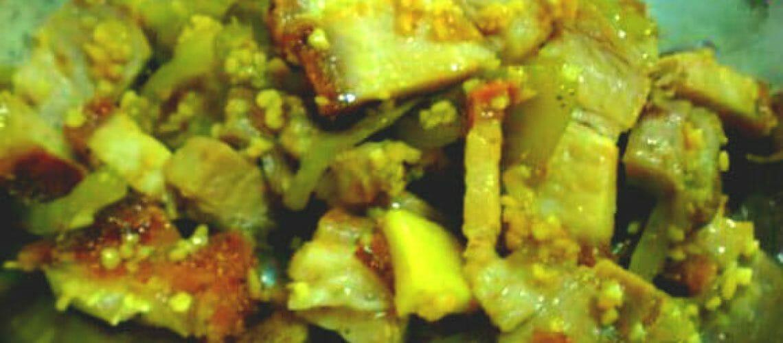 Stir fried Salted vegetables and roast pork