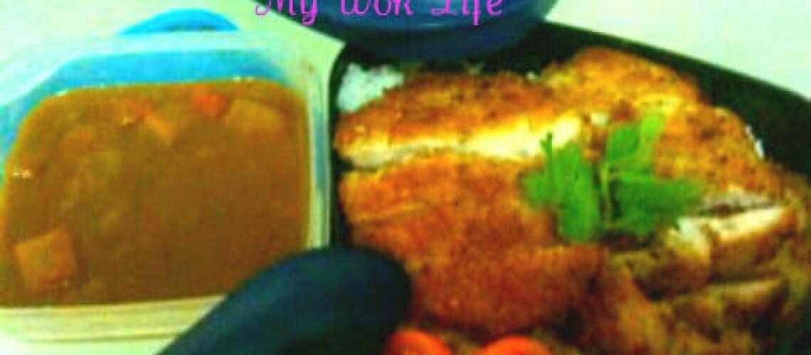 Japanese Curry Pork Chop Bento Set