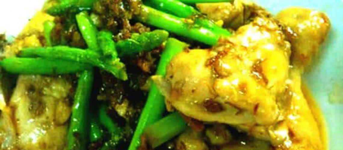 Stir fried XO sauce Chicken and asparagus