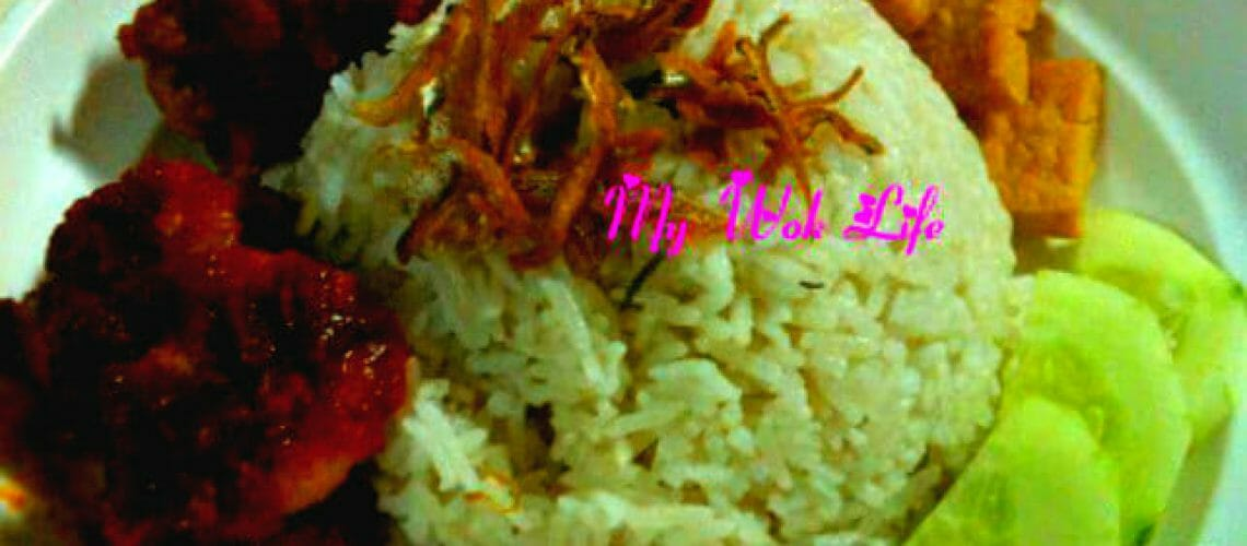 Nasi Lemak (Rice in Coconut fat)